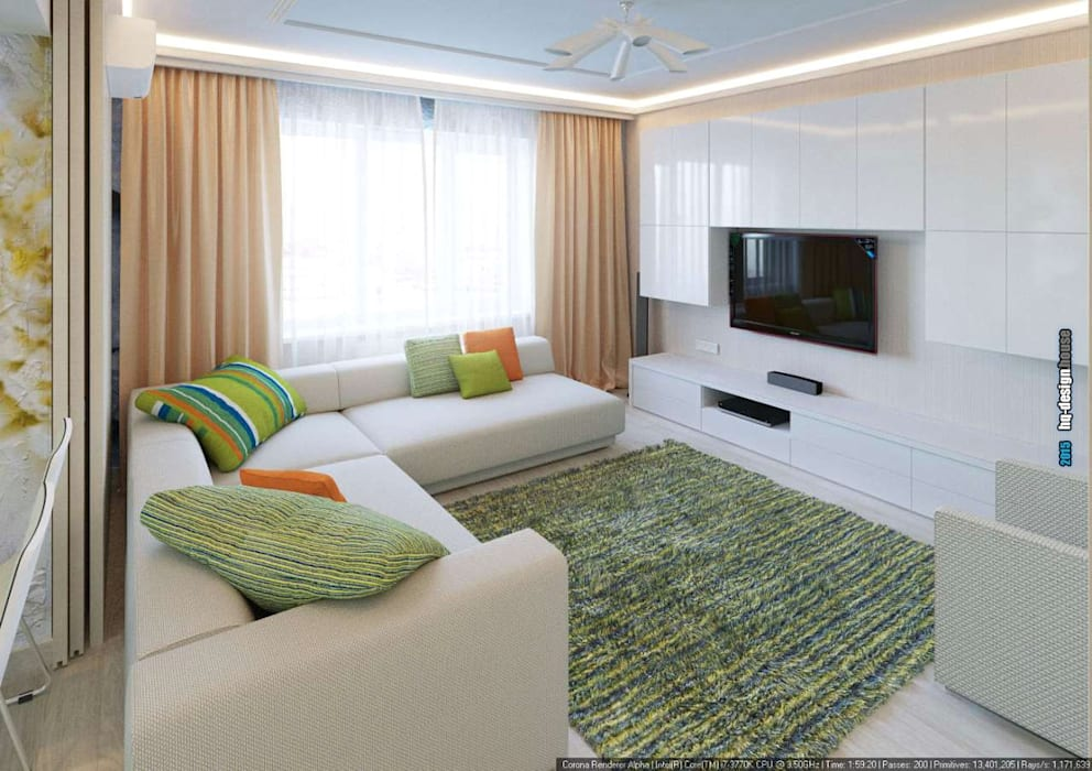 Modern living room by hq-design Modern