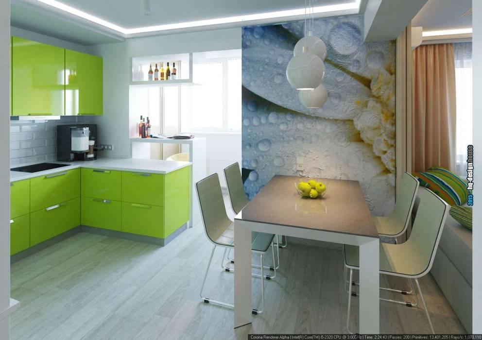 Дизайн интерьера квартиры 90кв.м в г.Саратове на ул.Шелковичной-2 Столовая комната в стиле модерн от hq-design Модерн