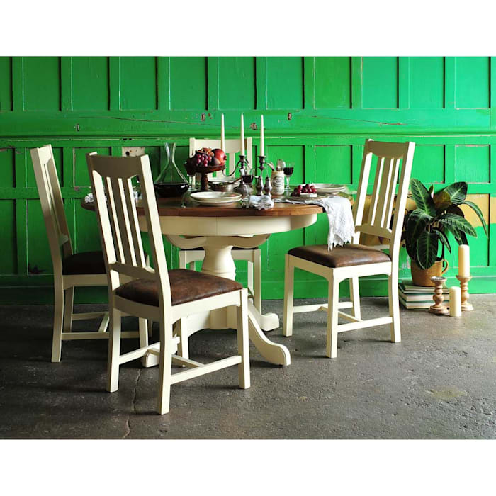 Westbury Painted Round Table And 4 Chairs Dining Room By