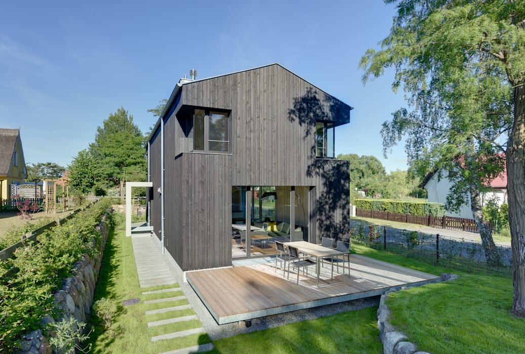 Ansicht vom Garten Möhring Architekten Satteldach
