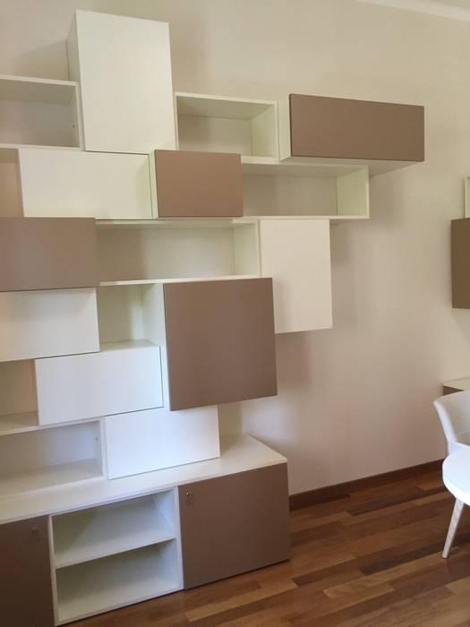 Progetto libreria per studio professionale: Studio in stile in stile Moderno di Arreda Progetta di Alice Bambini