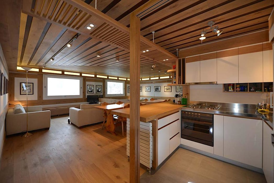 VITTORIO GARATTI ARCHITETTO Modern living room Wood