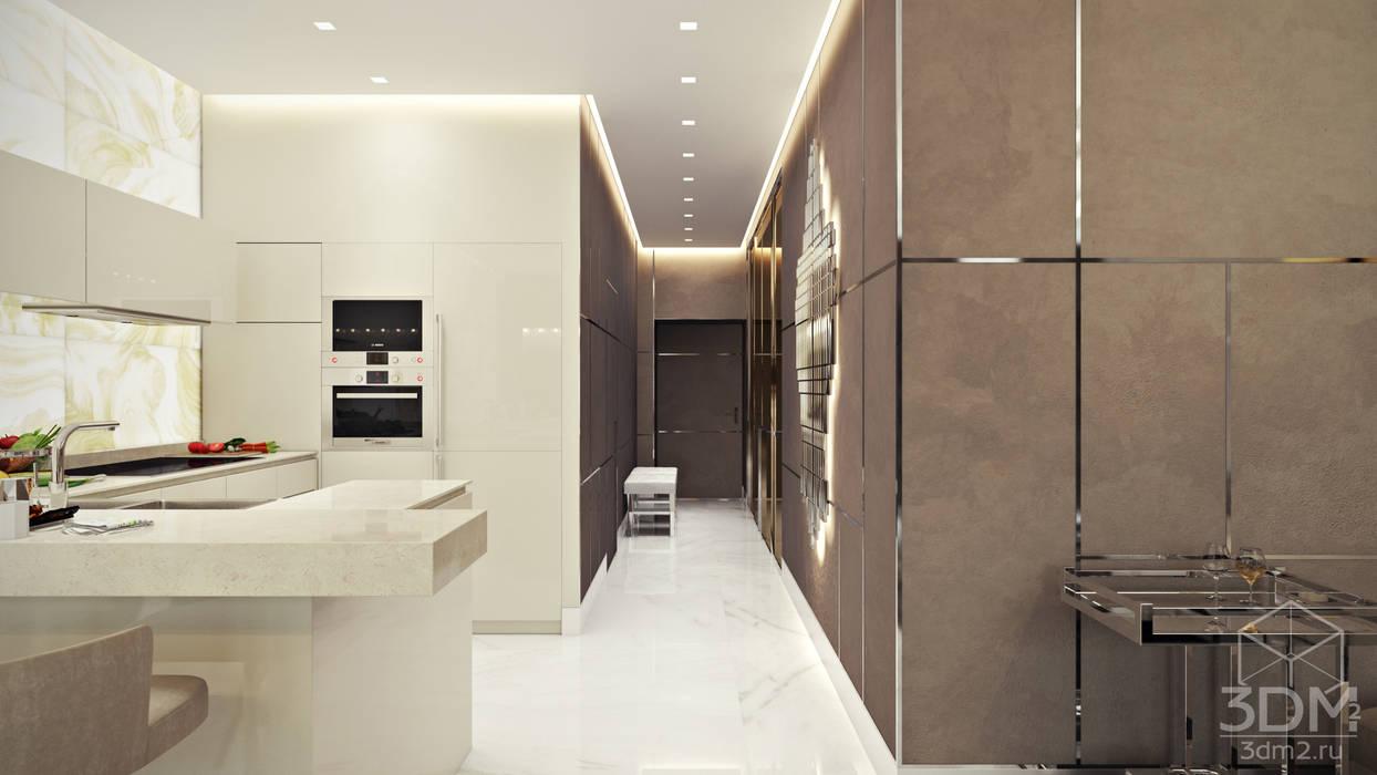 Квартира-студия в стиле Хай-тек: Коридор и прихожая в . Автор – студия визуализации и дизайна интерьера '3dm2', Минимализм
