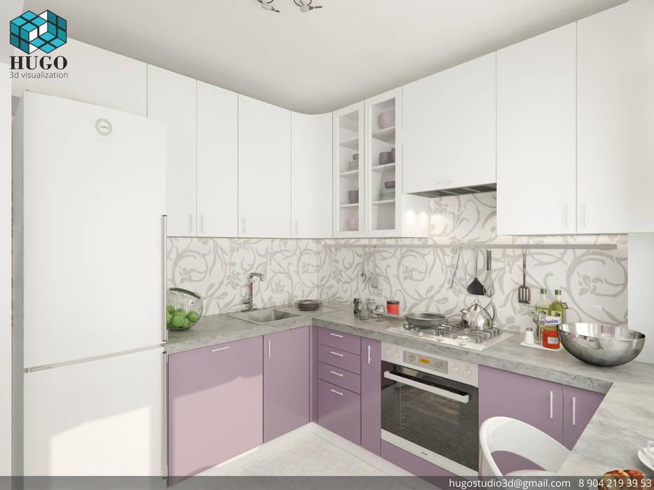 HUGO Minimalistische Küchen Lila/Violett
