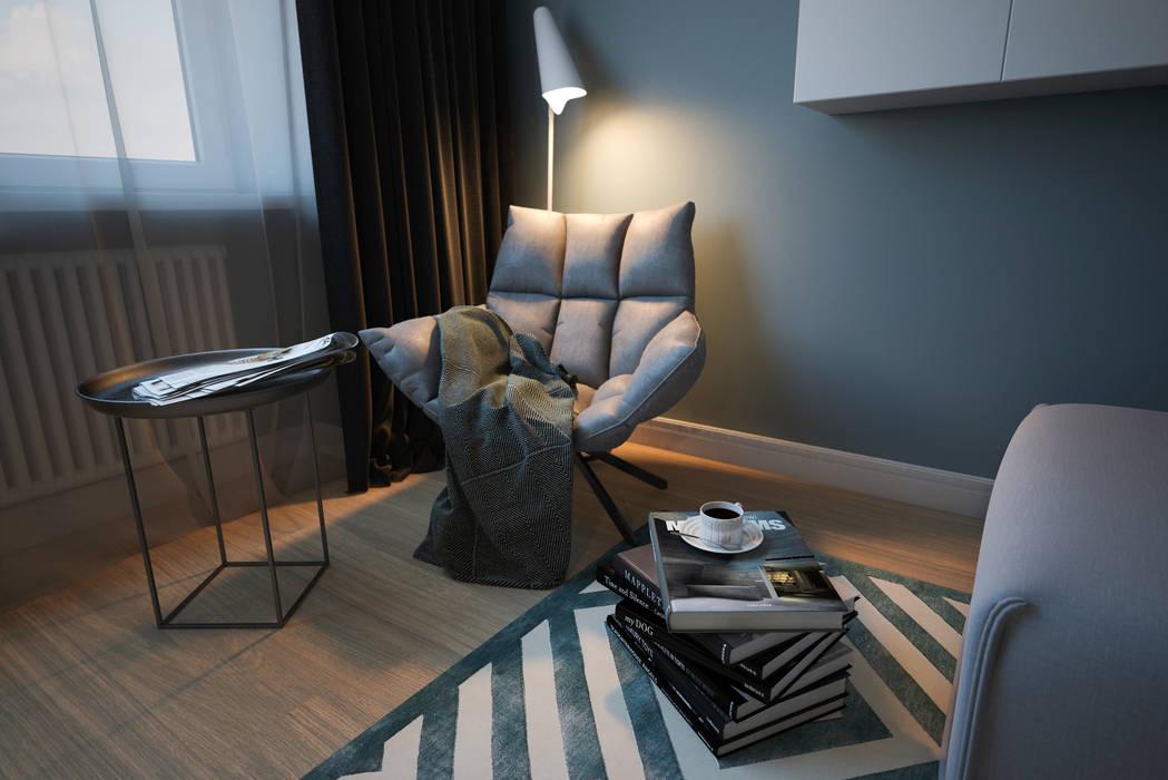 Salas de estilo moderno de Алена Булатая Moderno