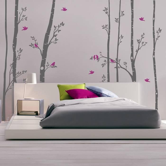 Vinilo decorativo Árboles con pájaros Goodvinilos Paredes y pisosDecoración de paredes
