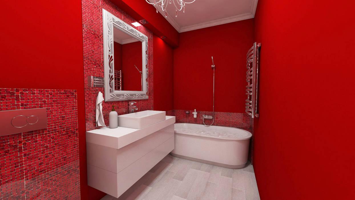 Łazienka: styl , w kategorii Łazienka zaprojektowany przez Katarzyna Wnęk
