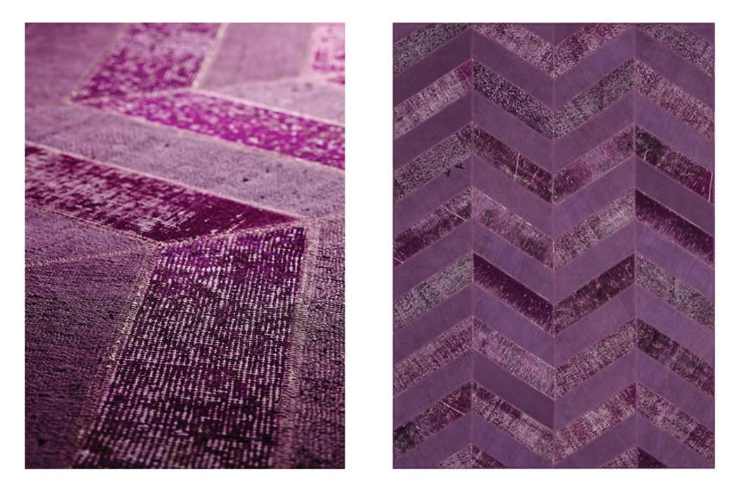 Zimmermanns Kreatives Wohnen Walls & flooringCarpets & rugs Wool Purple/Violet