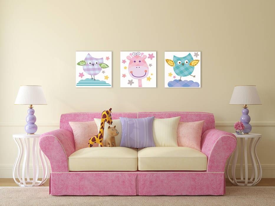 Komplet SÓWKI i ŻYRAFA XXL: styl , w kategorii Pokój dziecięcy zaprojektowany przez PERPETUJA