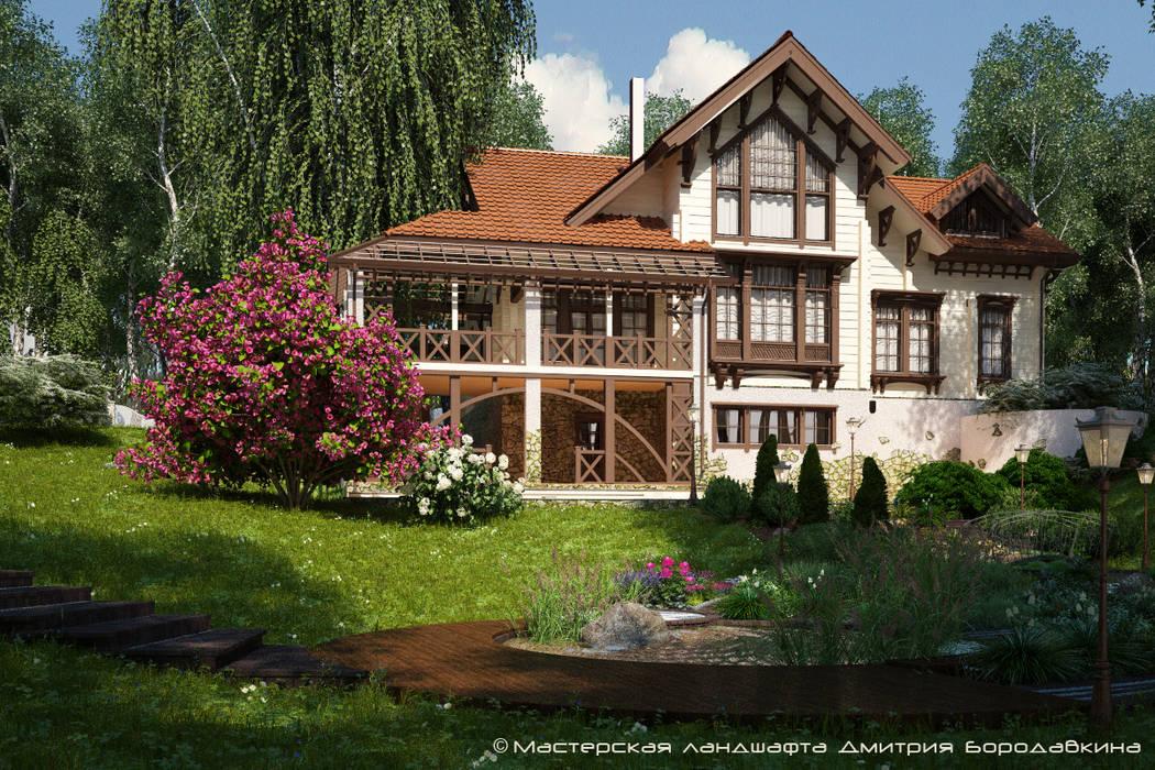 Casas estilo moderno: ideas, arquitectura e imágenes de Мастерская ландшафта Дмитрия Бородавкина Moderno Madera Acabado en madera