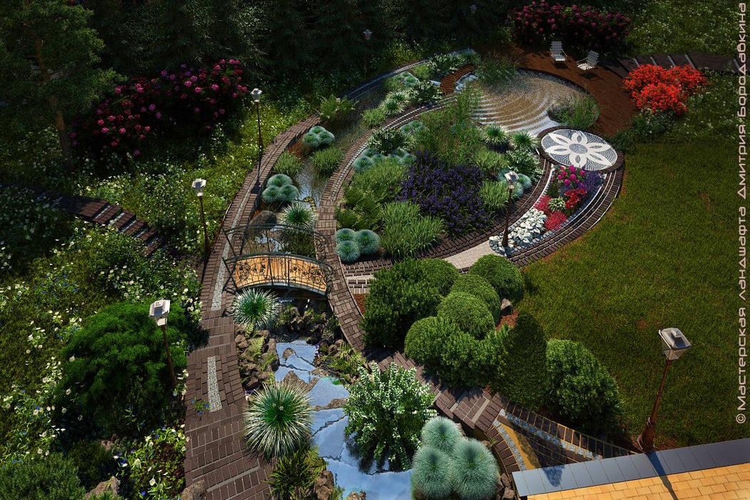 Безмятежное: Сады в . Автор – Мастерская ландшафта Дмитрия Бородавкина, Модерн