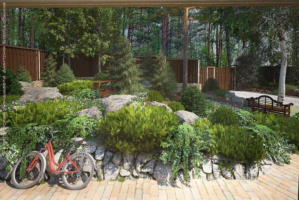 Карельская усадьба: Сады в . Автор – Мастерская ландшафта Дмитрия Бородавкина, Кантри