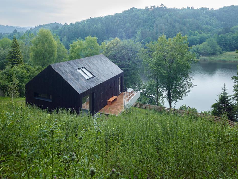 現代房屋設計點子、靈感 & 圖片 根據 Backraum Architektur 現代風 木頭 Wood effect