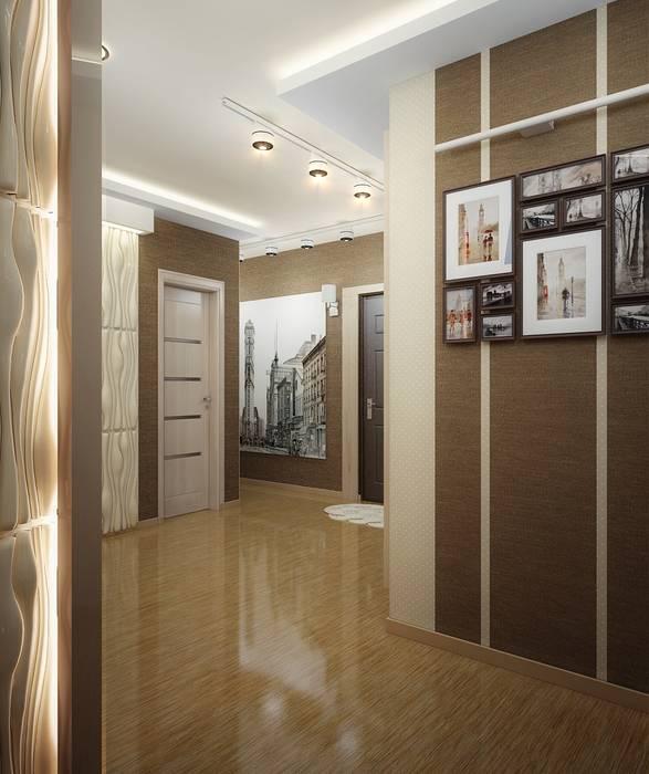 Проект 2х комнатной квартиры: Коридор и прихожая в . Автор – Инна Михайская, Модерн