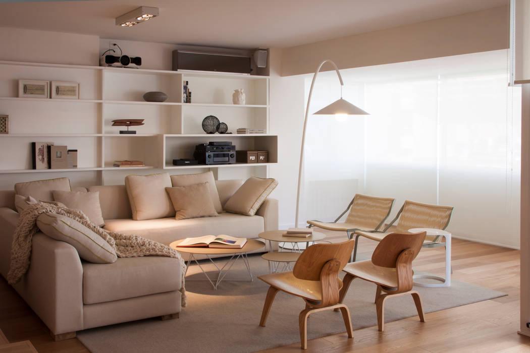 Piso en Palermo · Paula Herrero | Arquitectura Livings modernos: Ideas, imágenes y decoración de Paula Herrero | Arquitectura Moderno