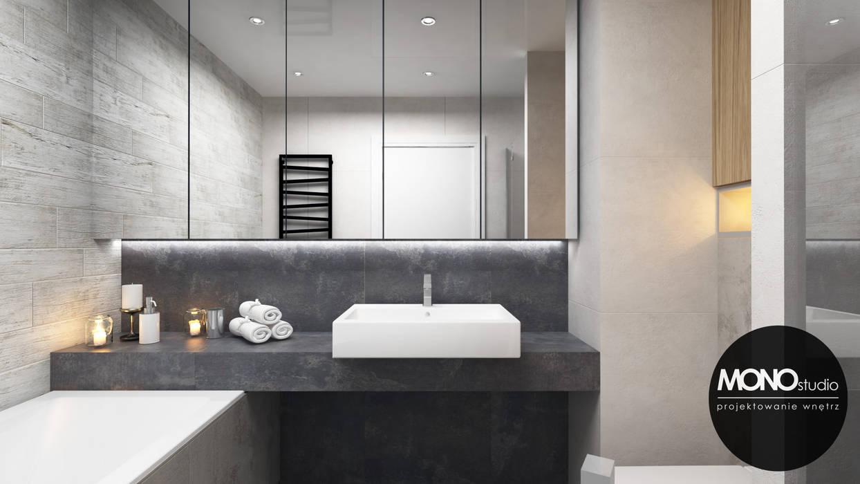 Minimalizm w formie i kolorze: styl , w kategorii Łazienka zaprojektowany przez MONOstudio