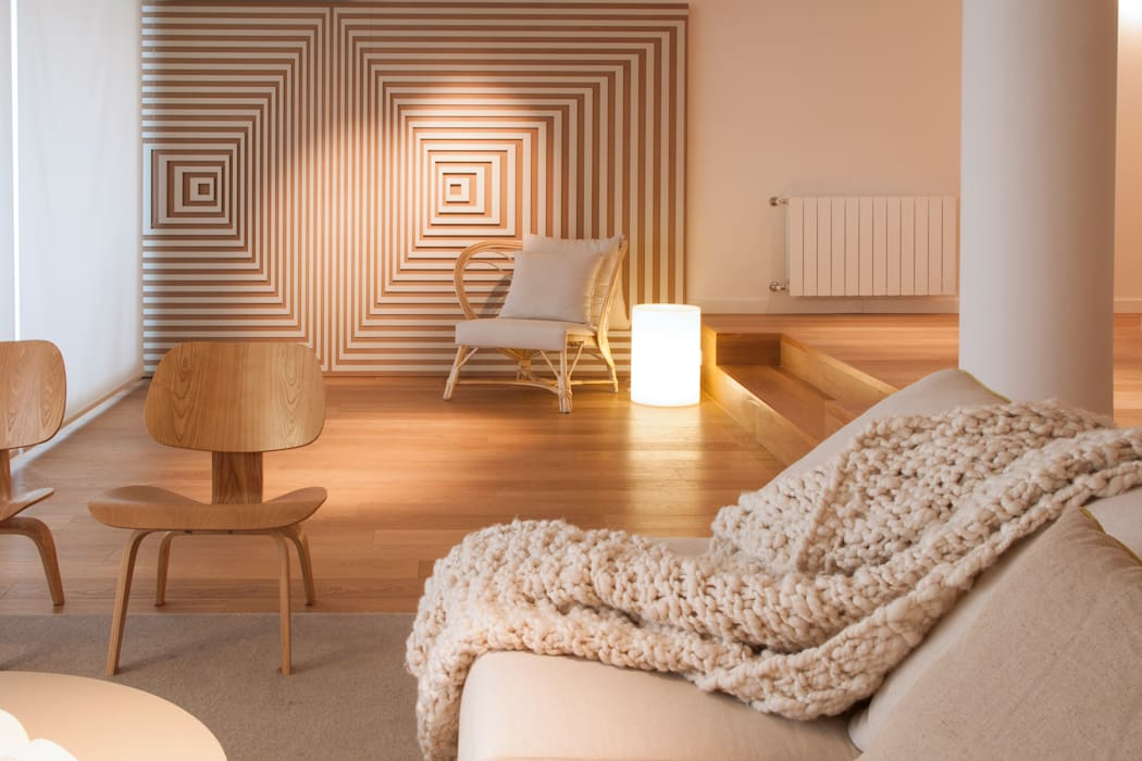 Modern living room by Paula Herrero | Arquitectura Modern Wood Wood effect