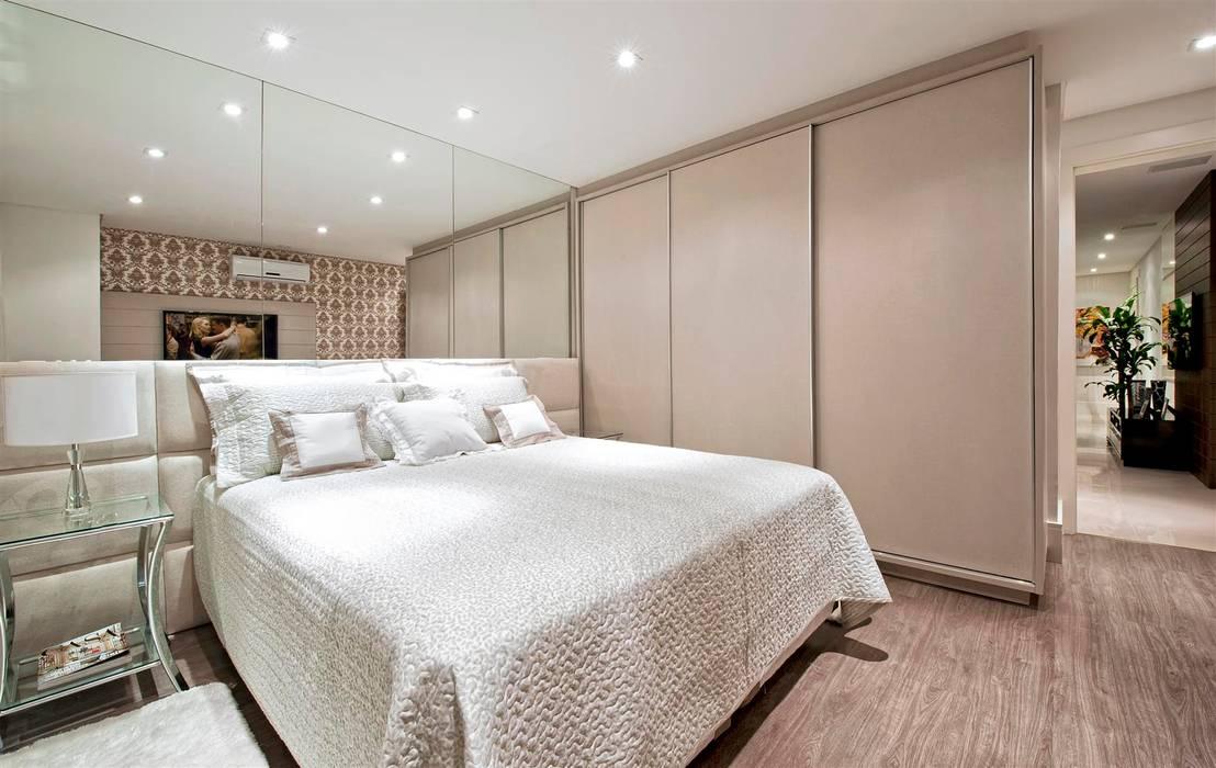 Apartamento Conjugado Quartos modernos por Luciana Hara Arquitetura Moderno