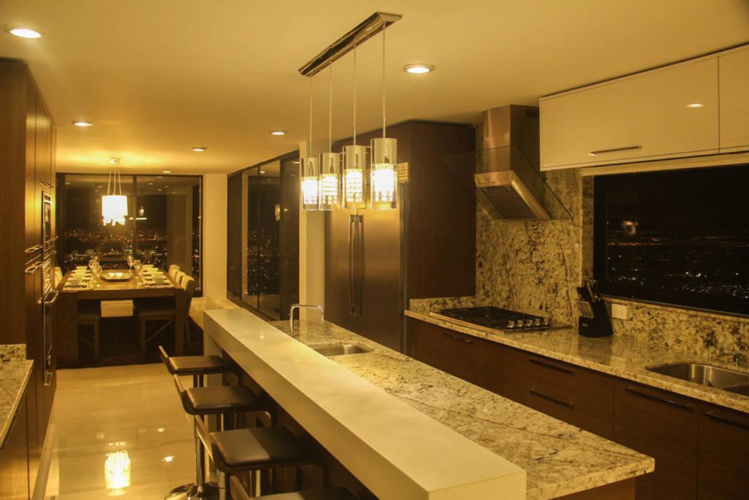 aaestudio Modern kitchen Granite Grey