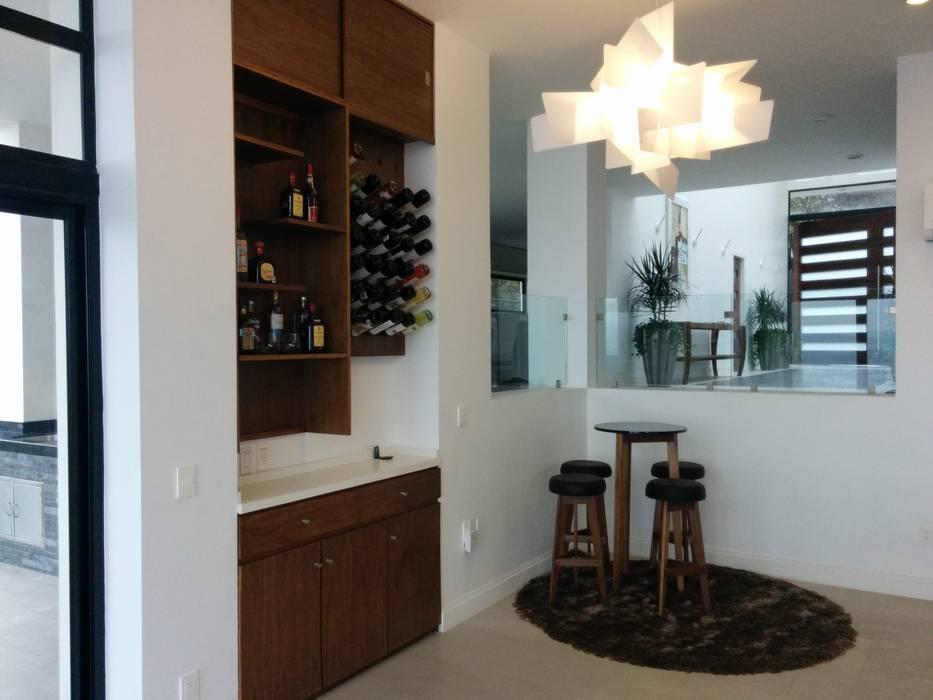 aaestudio Modern living room Solid Wood Wood effect