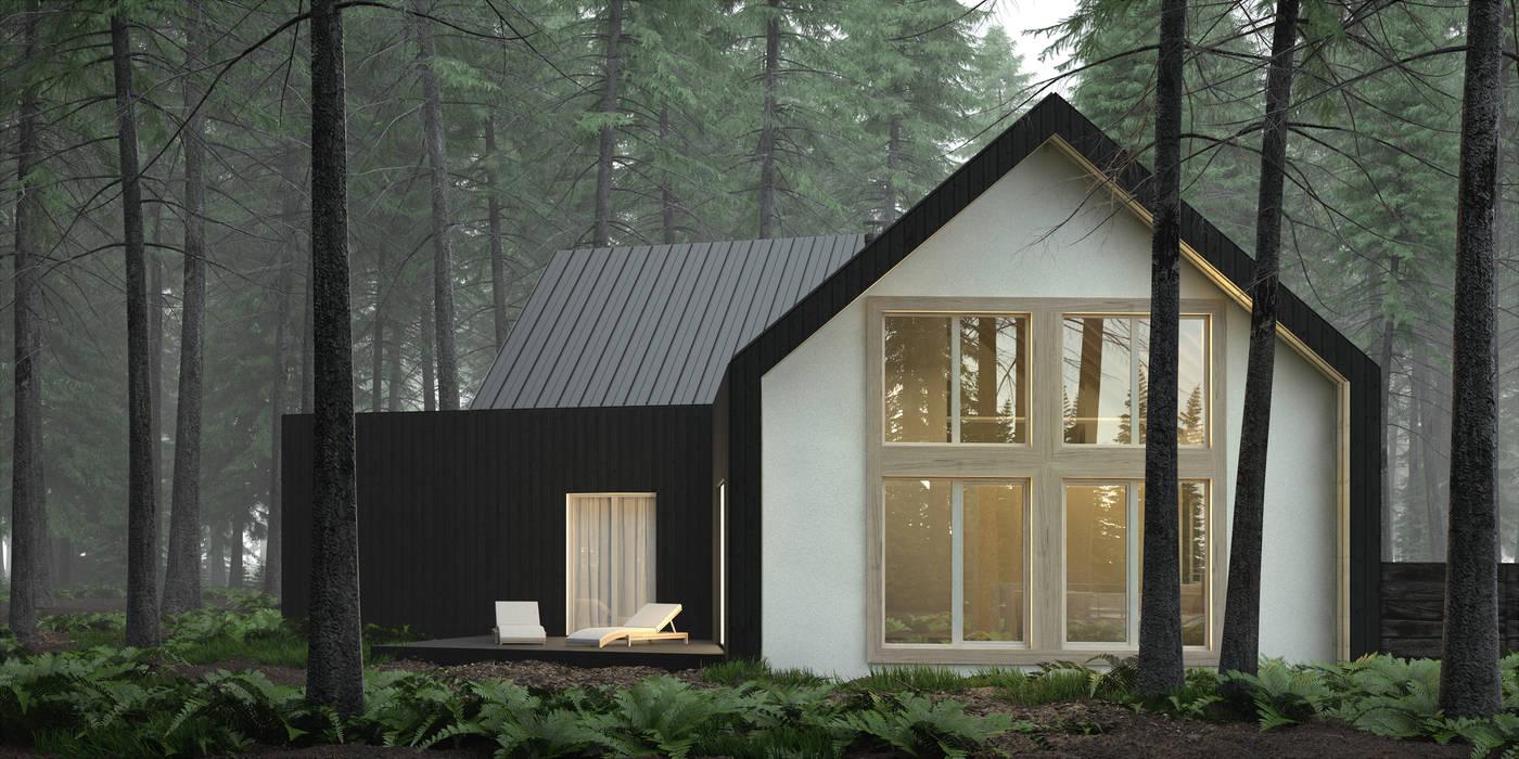 Casas modernas de KOZIEJ ARCHITEKCI Moderno Madera Acabado en madera