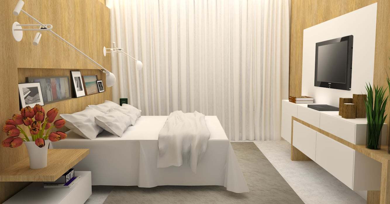 Dormitorios de estilo moderno de Arquiteto Virtual - Projetos On lIne Moderno
