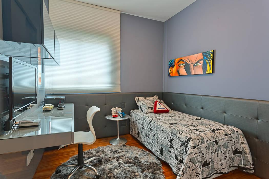 Chambre moderne par Mariana Borges e Thaysa Godoy Moderne