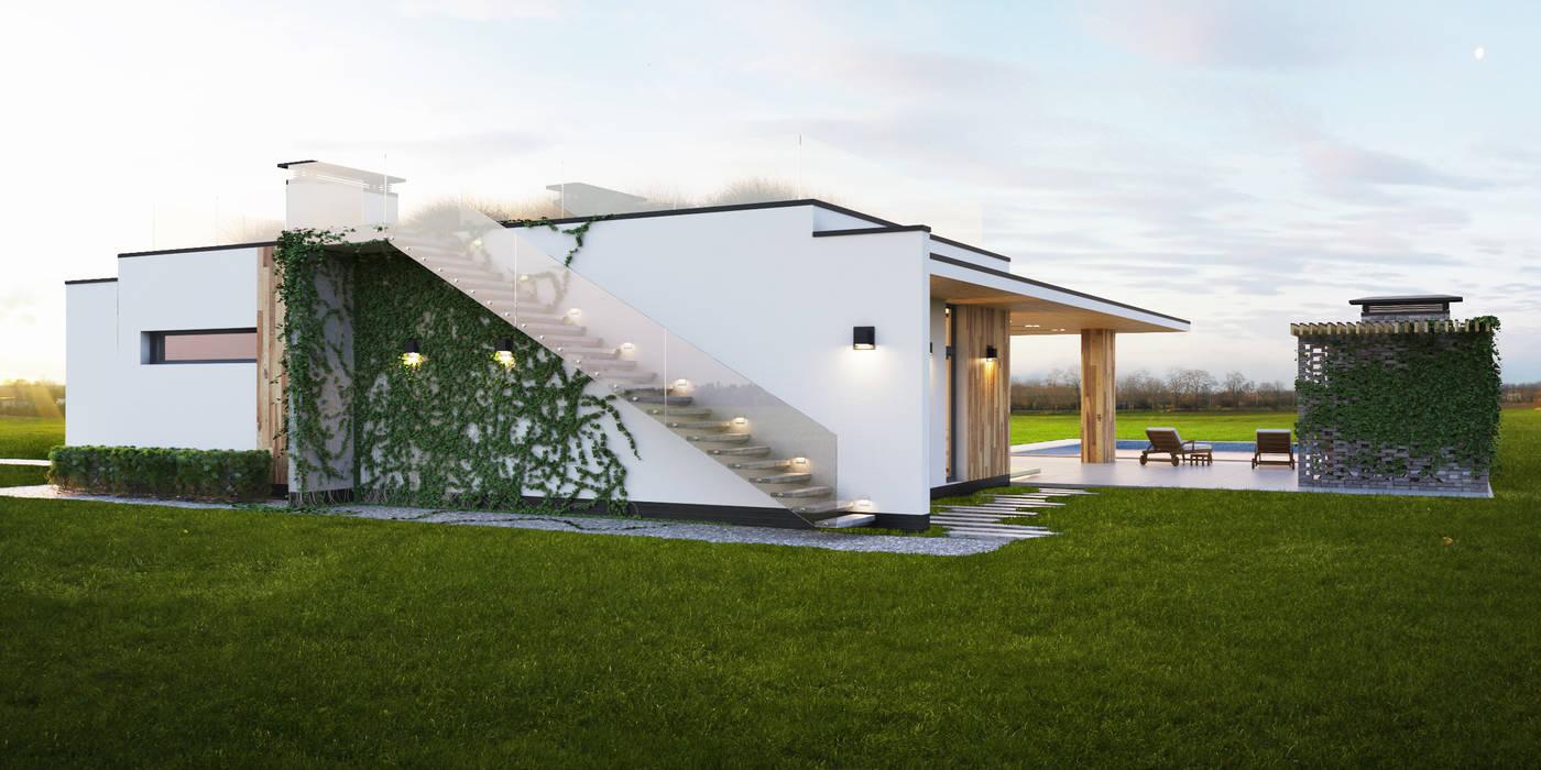 IK-architects Casas de estilo minimalista Blanco