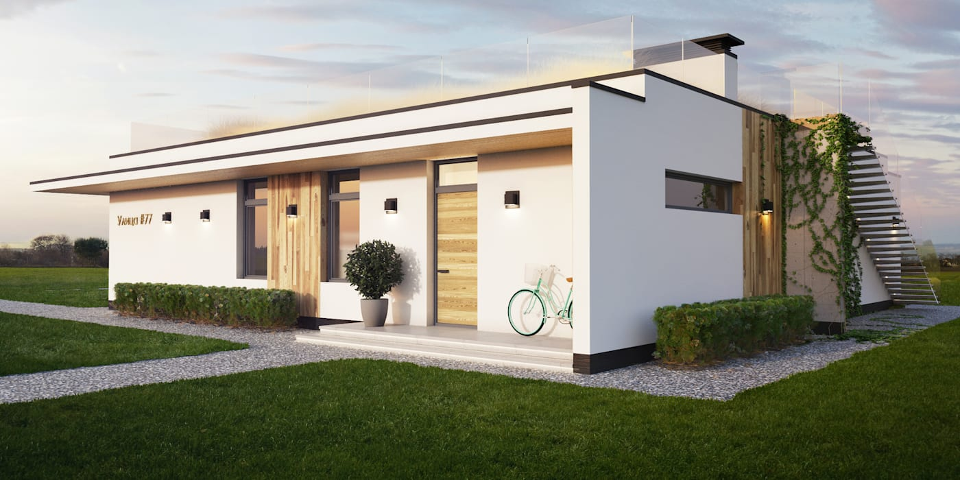 Minimalist house by IK-architects Minimalist Wood Wood effect