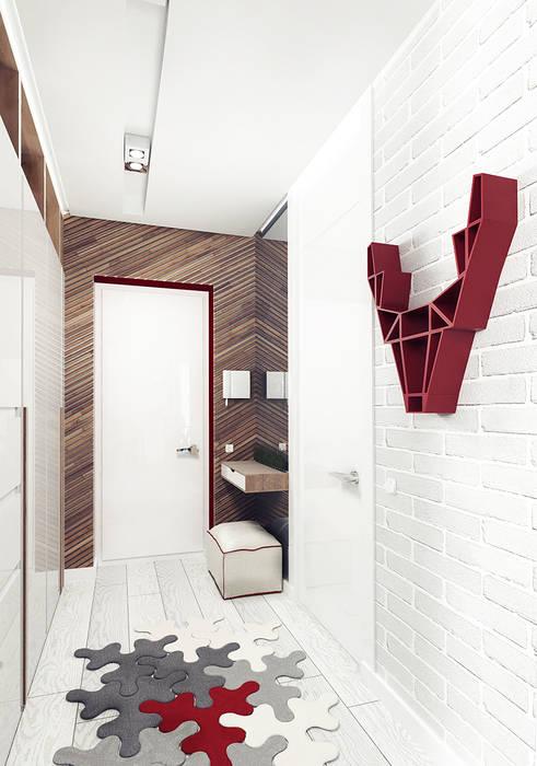 Couloir et hall d'entrée de style  par IK-architects