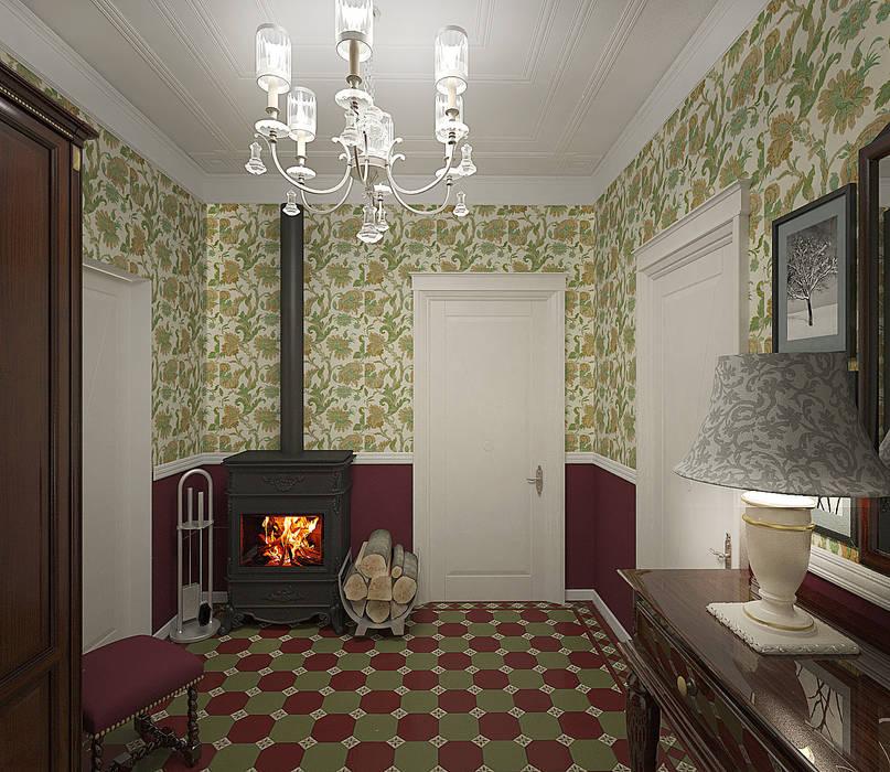 Pasillos, vestíbulos y escaleras de estilo rural de студия Виталии Романовской Rural