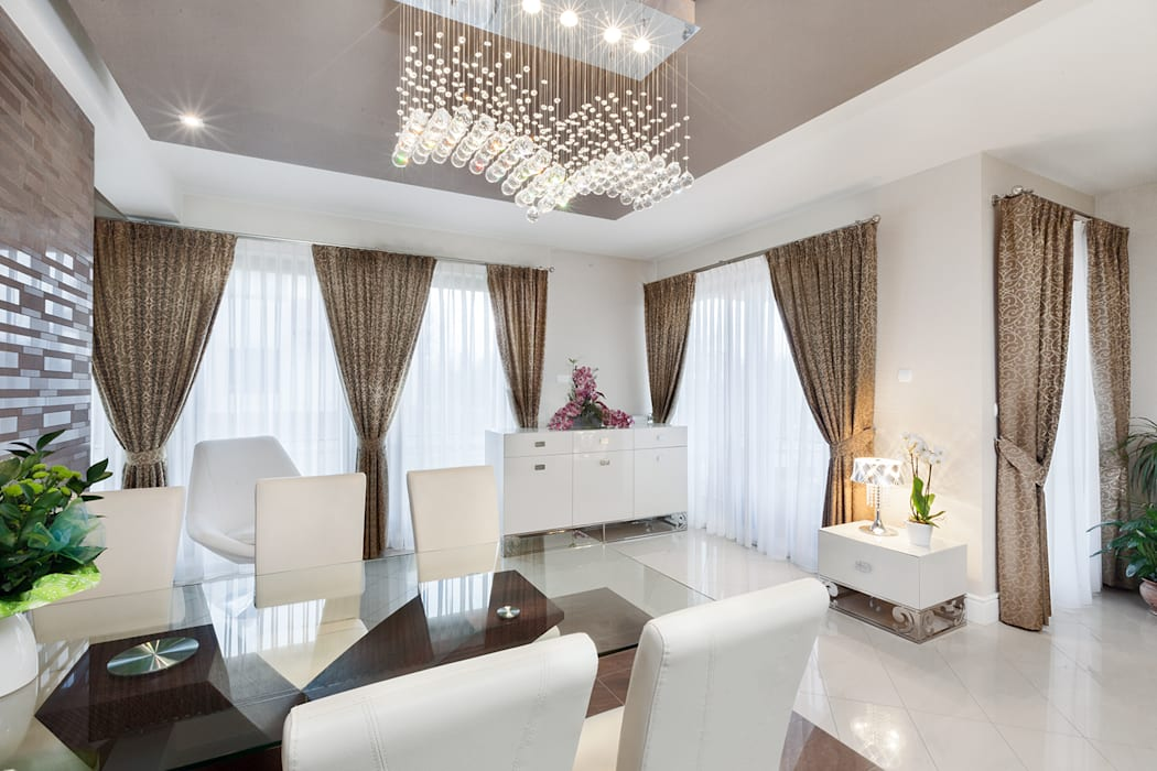 Dekoracje Okienne Styl W Kategorii Salon Zaprojektowany Przez Han