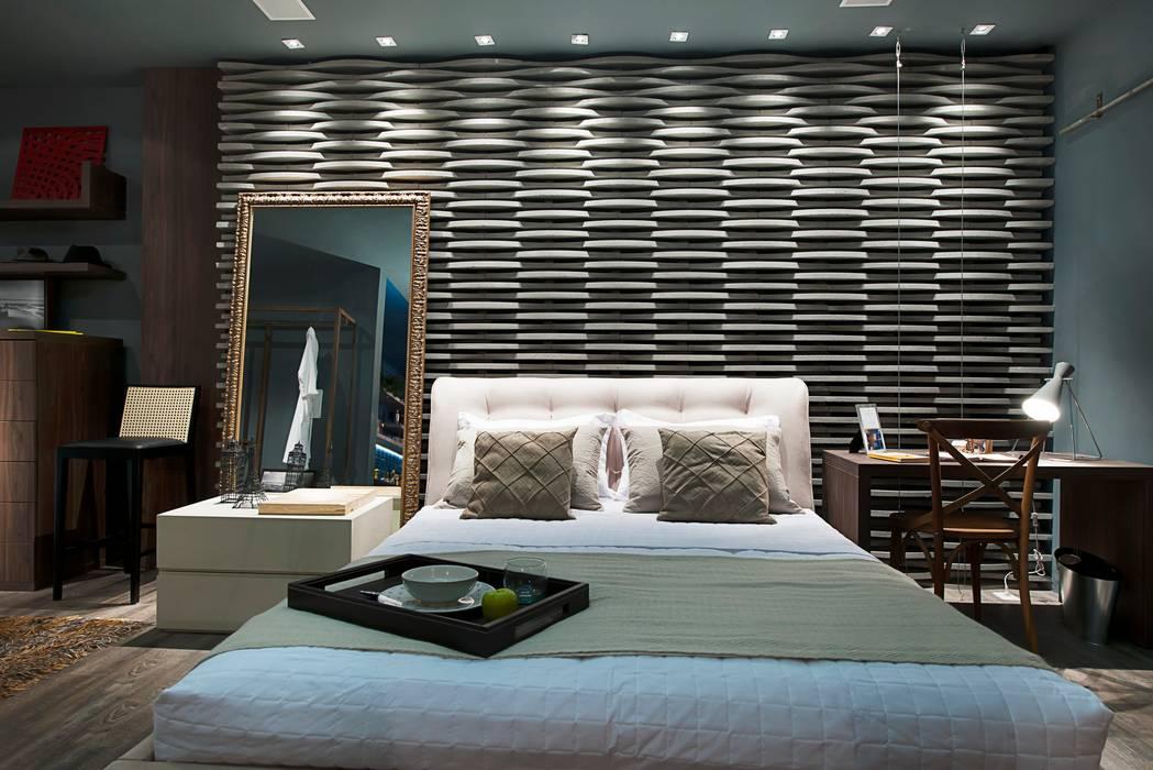 Kamar Tidur Modern Oleh Cristiane Locatelli Arquitetos & Associados Modern