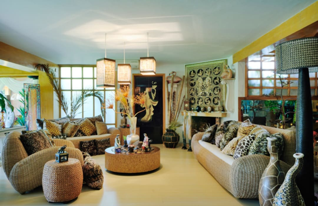 sala de estar: Salas de estilo  por Excelencia en Diseño, Asiático