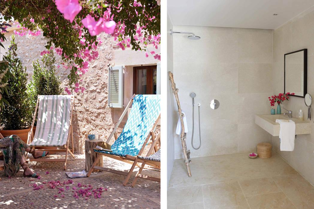 HOTEL CAL REIET – GUEST HOUSES Balcones y terrazas de estilo mediterráneo de Bloomint design Mediterráneo