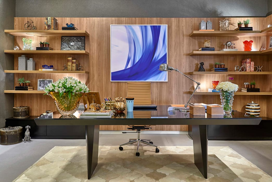 Modern Study Room and Home Office by Lider Interiores Modern