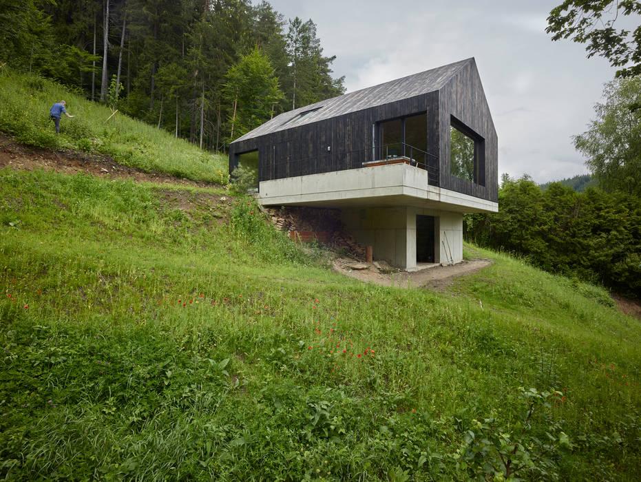 Haus am Thurnberger Stausee Moderne Häuser von Backraum Architektur Modern Holz Holznachbildung
