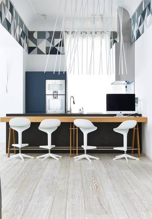 Restauro villino liberty: cucina in stile di architetto alboini ...