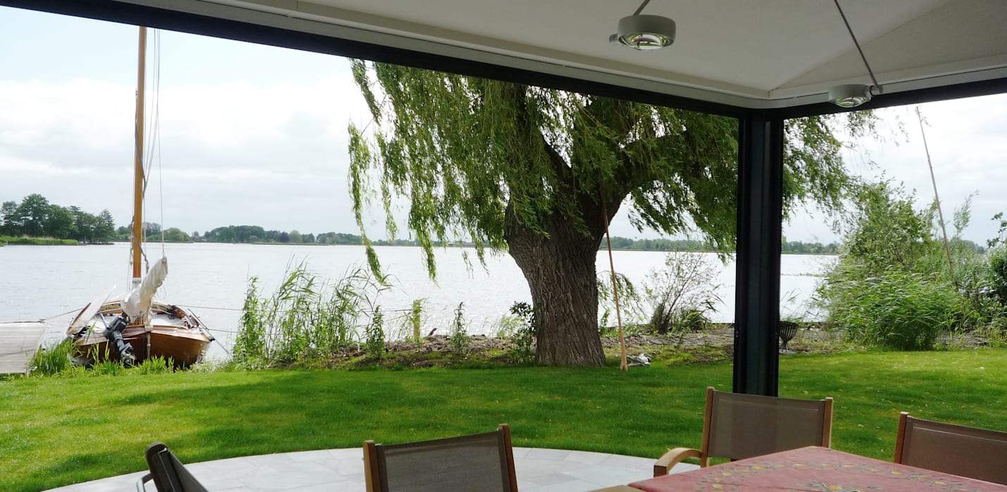 serre alias veranda:  Tuin door Architectenbureau Rutten van der Weijden