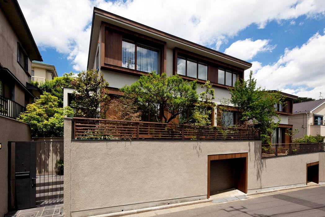 Moderne Häuser von 向山建築設計事務所 Modern Holz Holznachbildung