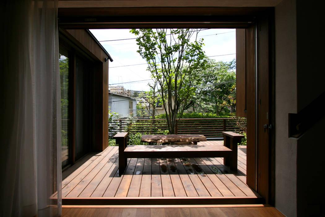 神木本町の家 向山建築設計事務所 モダンな庭 木