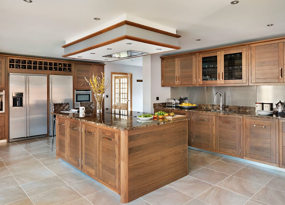 Grosvenor | Walnut And Marble Elegance Davonport Kitchen Wood Brown