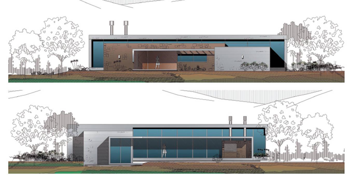 Dibujos Fachadas Casa El Tipal Casas De Estilo Por Proyecto Norte