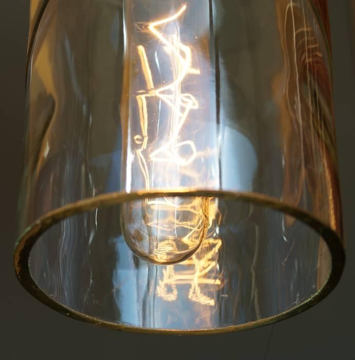 """Vintage Flaschenlampe Hängelampe """"cinco"""":  Geschäftsräume & Stores von Uniikat.de"""