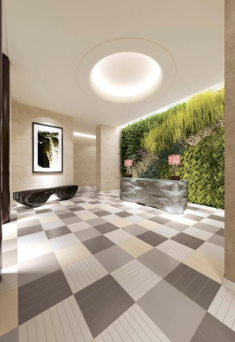 Modern Corridor, Hallway and Staircase by Cer Vogue Modern Tiles