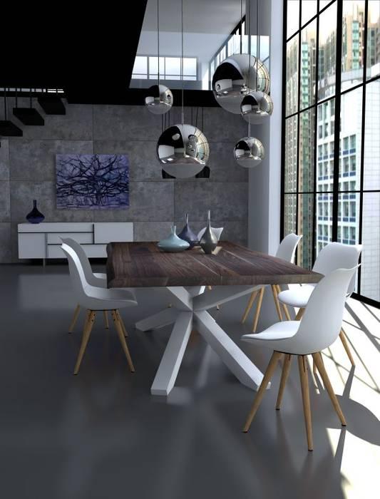 Jadalnia w lofcie od Le Pukka Concept Store Minimalistyczny