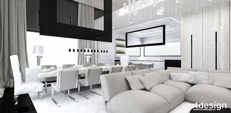 Phòng khách theo ARTDESIGN architektura wnętrz, Hiện đại
