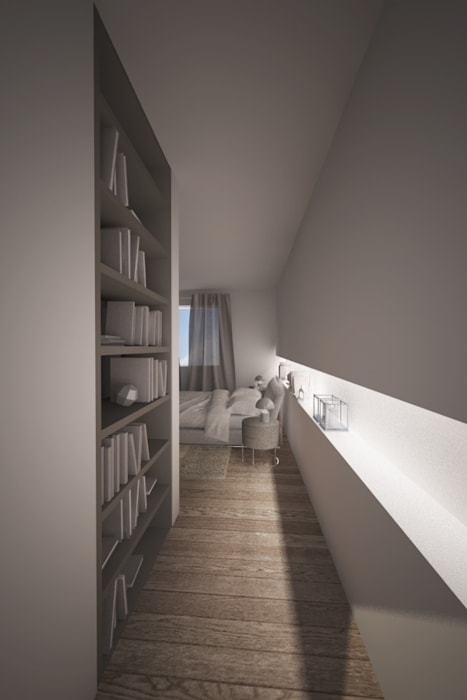 Interior Design: la camera da letto: Camera da letto in stile in stile Moderno di Emmeti Srl
