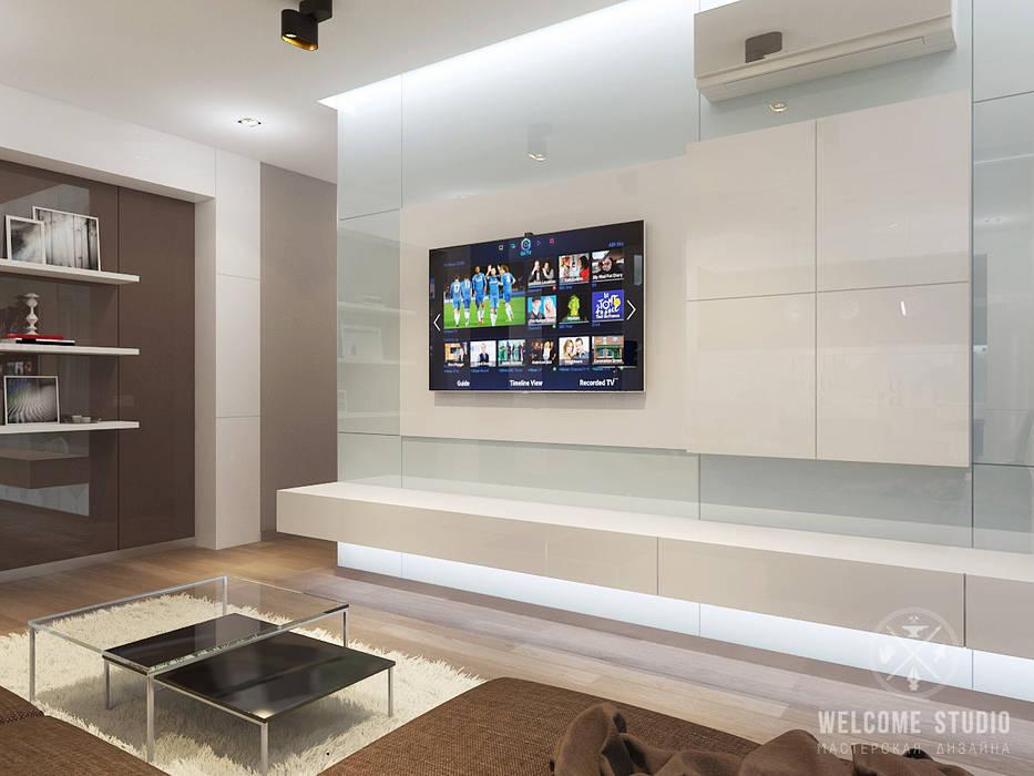 Minimalist living room by Мастерская дизайна Welcome Studio Minimalist
