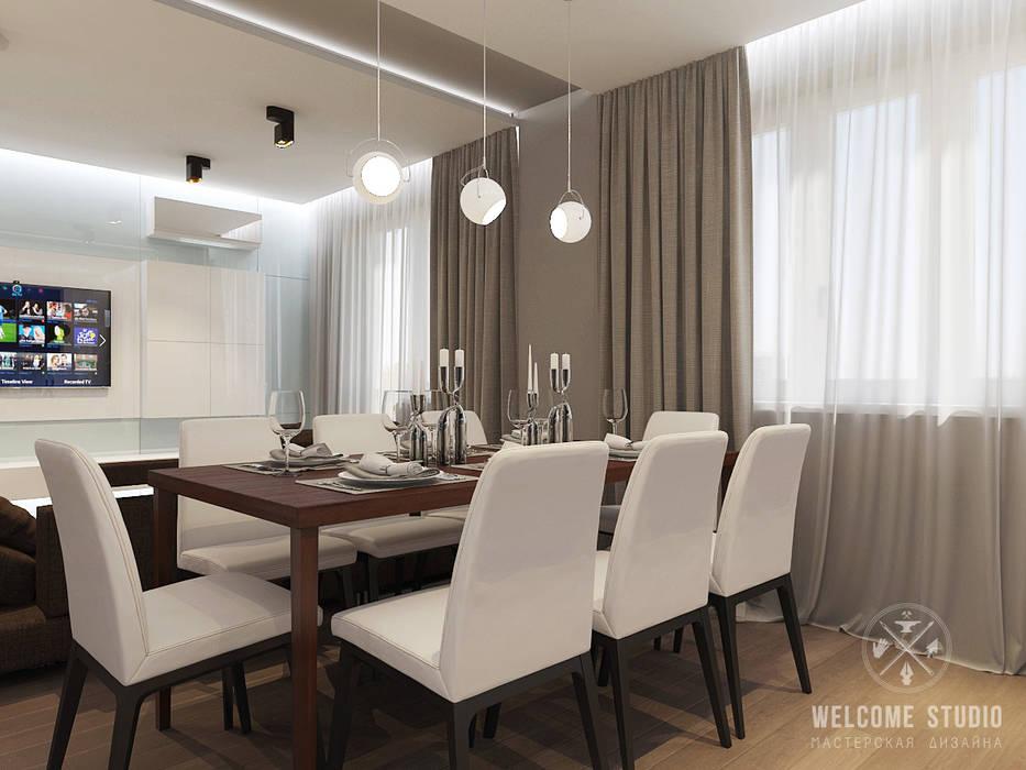 Minimalist kitchen by Мастерская дизайна Welcome Studio Minimalist